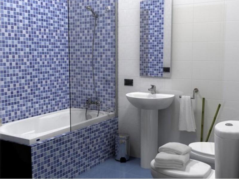 Мозаика в ванной интерьер фото