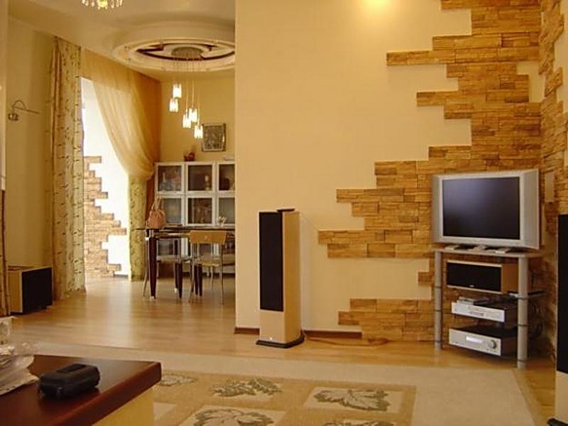 Фото дизайн квартир декоративным камнем фото в