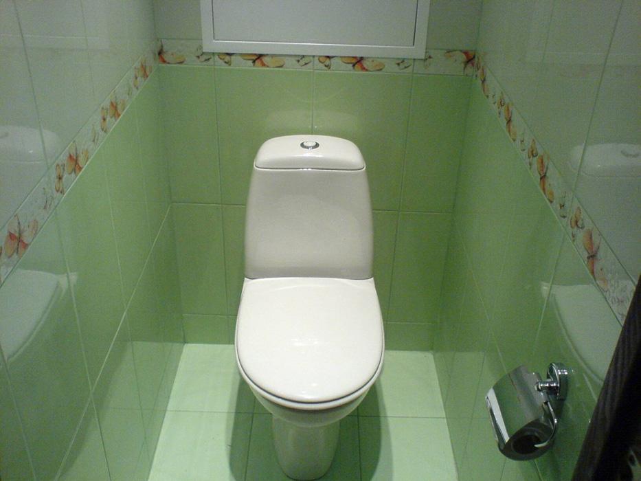 Отделка туалета пластиковыми панелями фото