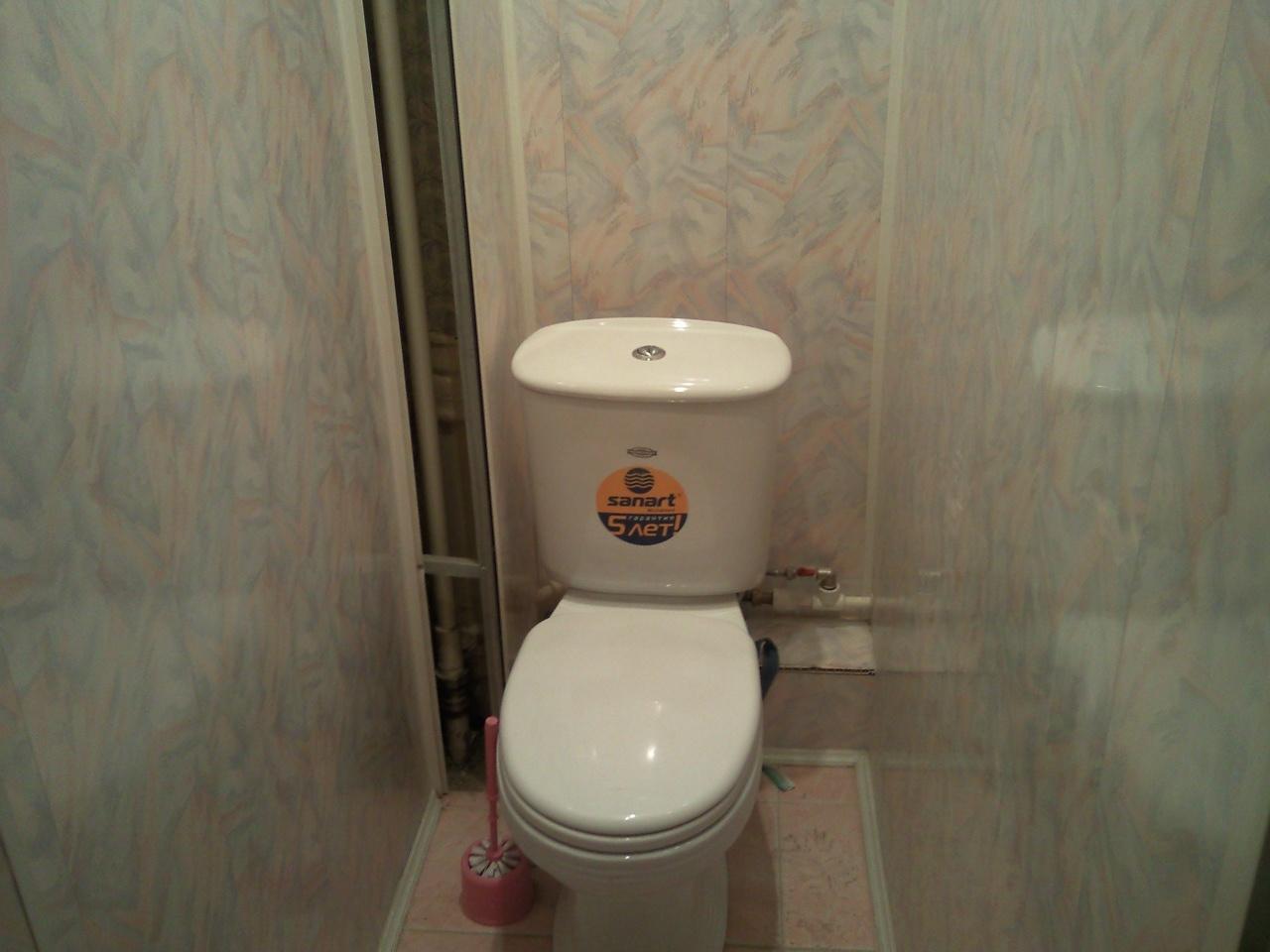 отделка туалета панелями пвх фото