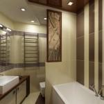 Отделка ванной комнаты и туалета плиткой фото