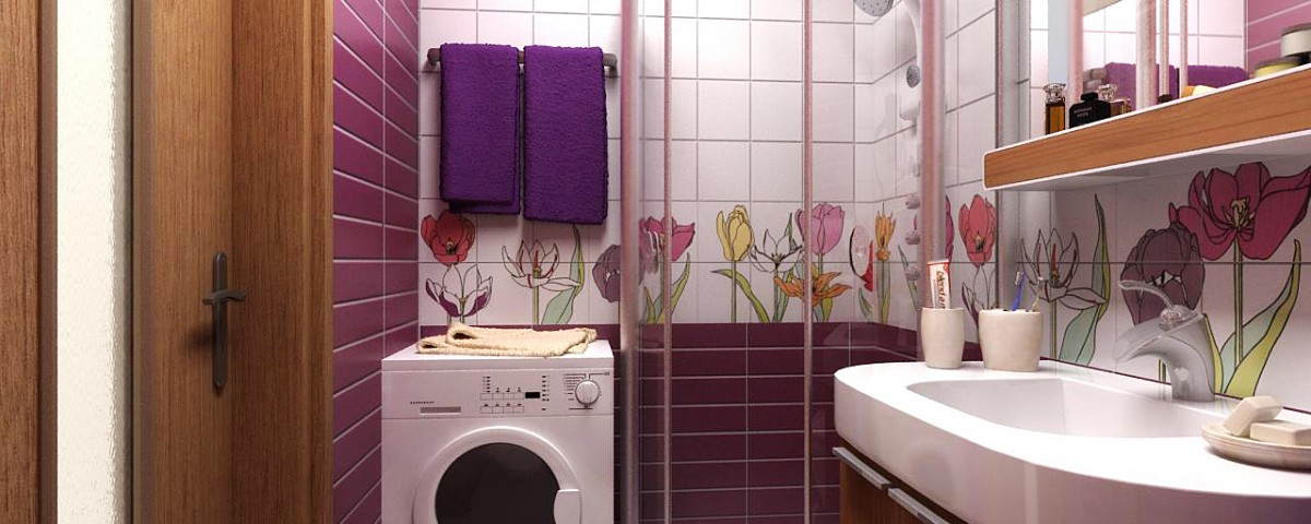 Ремонт ванной комнаты в хрущевке фото готовых интерьеров
