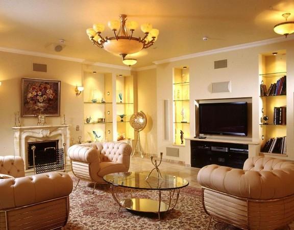 Дизайн отделки гостиной