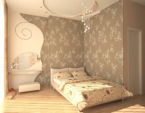 Основные варианты отделки спальни обоями