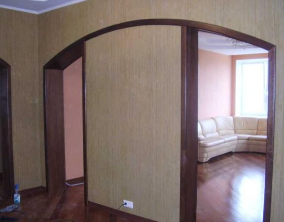 Отделка проёмов между комнатами без установки дверей