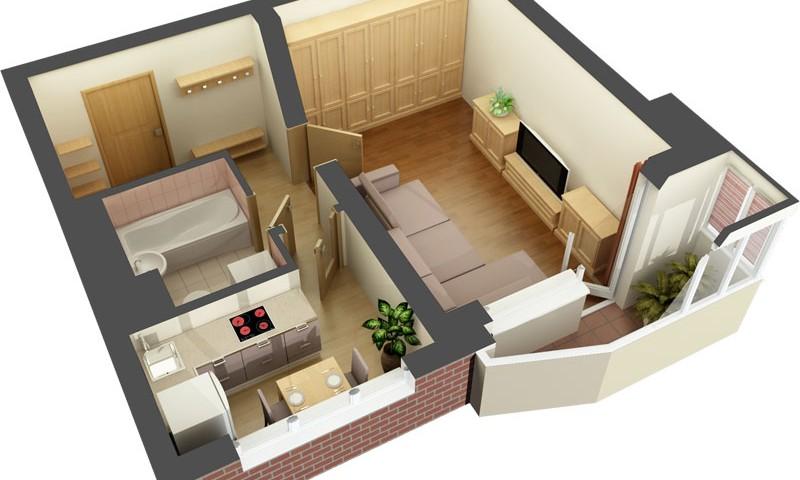 Ремонт однокомнатной квартиры в 40 кв. м
