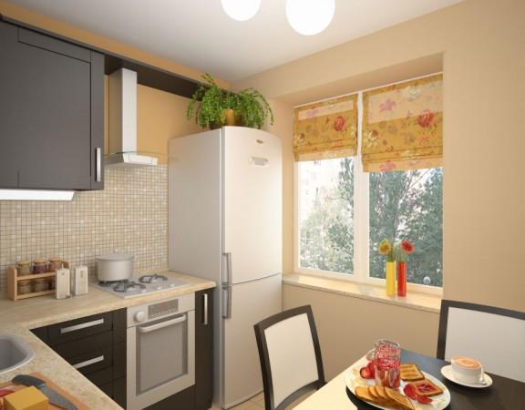 Ремонт в кухне 6 метров