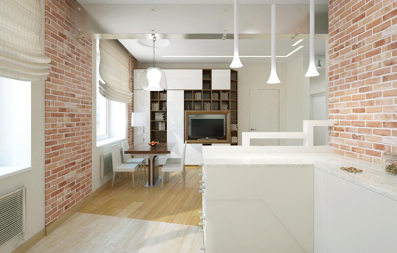 Варианты отделки гостиной кухни