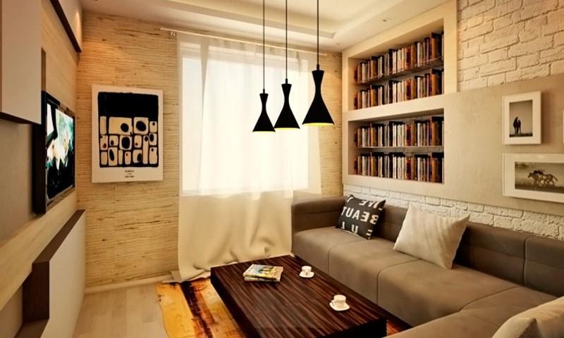 Варианты отделки стен в гостиной
